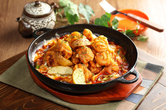 Korean style of Chengyang spicy taste to eat a la carte sunsal T