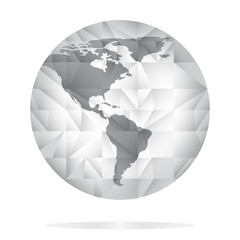 Search photos world map blank globe icon in grey color world map background in polygonal style stock vector gumiabroncs Choice Image