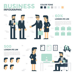Business Infographics. Business concept illustration.