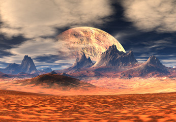3d Rendered Fantasy Alien Landscape - Illustration