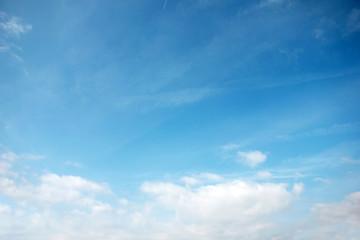 beautiful celestial landscape with space blue sky