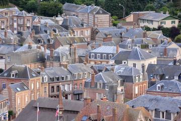 Falaise d'Amont Etretat City Normandy France Europe