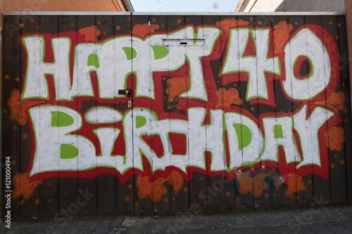 Geburtstagsgruß 40