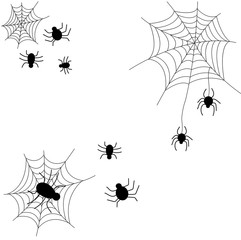a set of spider web of twine for Halloween