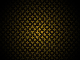 Poker gold background
