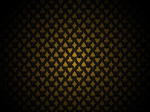 Poker gold background