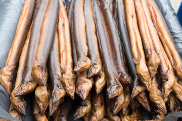 Smoked eels / Delicious healthy smoked fish prepared and ready to eat