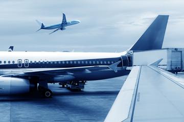 China Shanghai Pudong Airport's aircraft