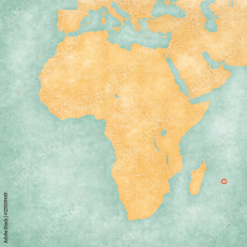 Map Of Africa Mauritius Stock Photo And Royalty Free Images On