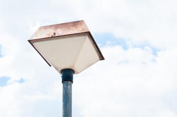 old Street retro lamp  on blue sky background