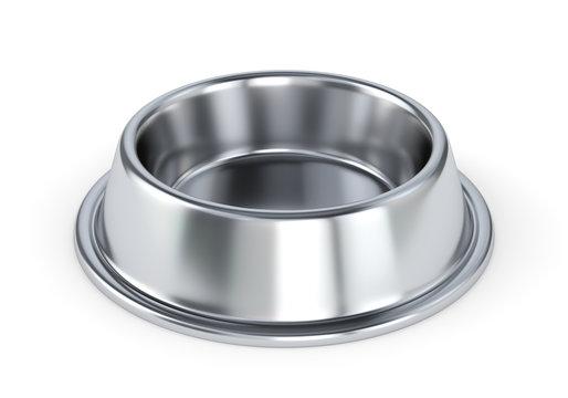 Metal pet bowl