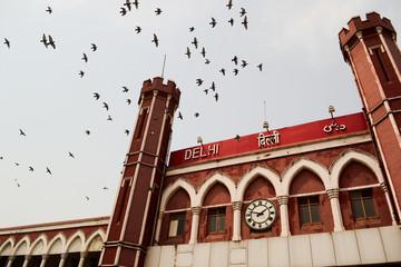 Printed roller blinds Delhi Old Delhi Train Station, India