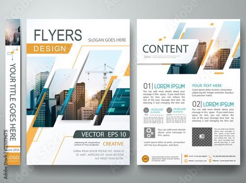 Abstract Square In Cover Book Portfolio Presentation Poster Design