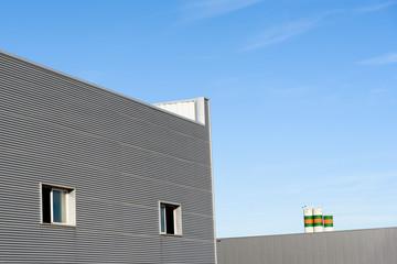 Exterior  industrial warehouse