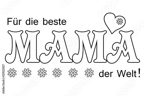 Für Die Beste Mama Der Welt Ausmalen Und Schenken Stockfotos Und