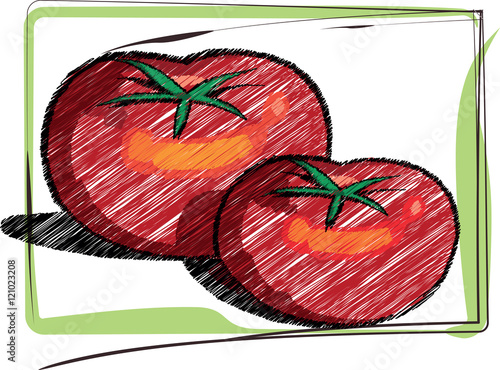 Papier Peint Organic Food illustration