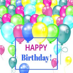 Happy birthday design, vector  invitation background. Greeting card
