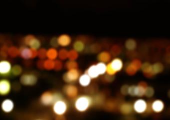 bokeh at night