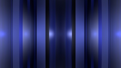 Blue glass stripes with light effect