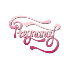 Hand drawn lettering for pregnancy time. Cute isolated letters