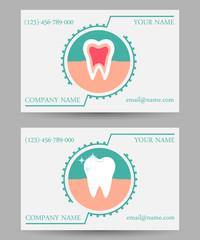 business card templates dental clinic