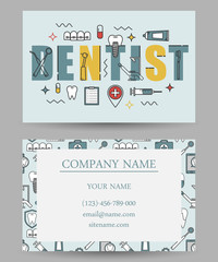 business card templates dental clinic