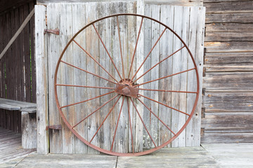 Big old metallic wheel