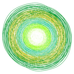 kolorowe, ręcznie rysowane ołówkiem, koła, ilustracje wektorowe, obraz