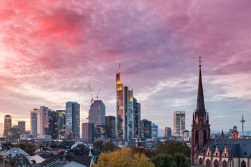 Frankfurt am Main im Abendrot