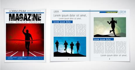 Sport layout magazine, vector