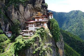 A view of Paro Taksang monastery in Paro, Bhutan