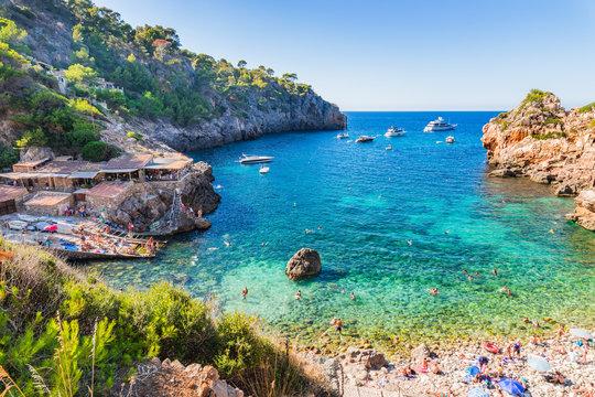 Spanien Mittelmeer Bucht Mallorca Cala Deia