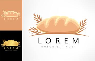 bread and wheat symbol. vector illustration.