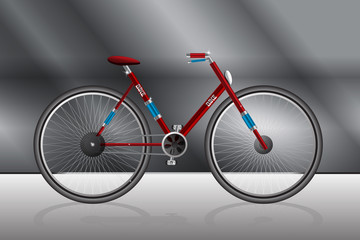 Classic Style Red Cycle Illustration