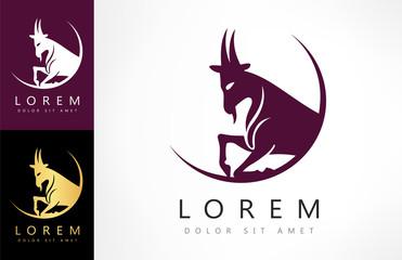 Goat Vector Design - vector logo