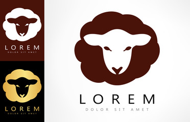 Sheep logo. Lamb vector.