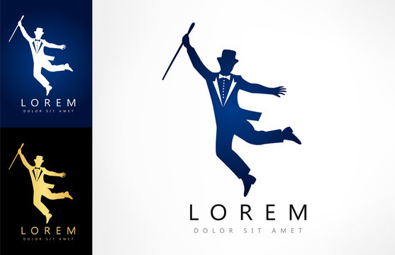 showman silhouette logo