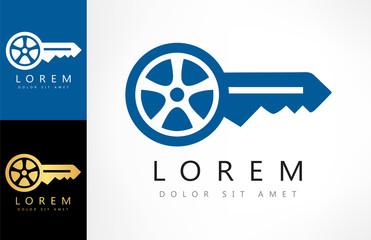 Car keys vector. Car logo.