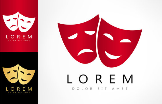 Theatrical masks vector logo