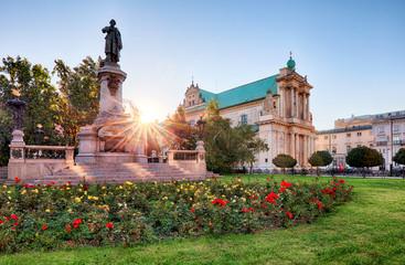 Warsaw - Adam Mickiewicz monument at Krakowskie Przedmiescie Str