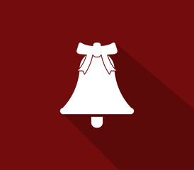icon Christmas bell in flat design