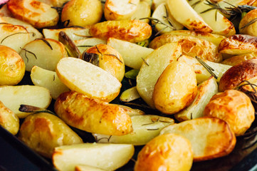 Potatoes out of the oven