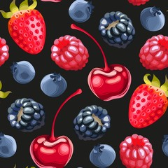 Delicious ripe berries seamless