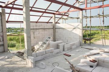 Building inside under construction