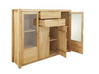 wooden cabinet isolated