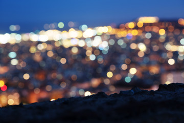 Fotomurales - bokeh of night Barcelona, Spain
