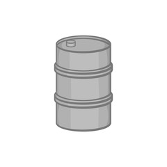 Barrel icon in black monochrome style on a white background vector illustration