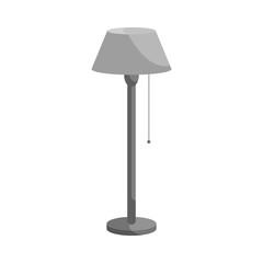 Long floor lamp icon in black monochrome style isolated on white background. Illumination symbol vector illustration