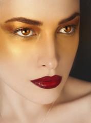 artistic makeup beauty portrait