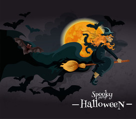 Spooky Halloween Party invitation banner